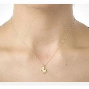 Life is Magical Unicorn Dainty Gold Necklace B2